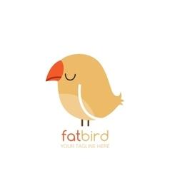 Bird logo design template vector image
