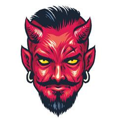 Demon head vector