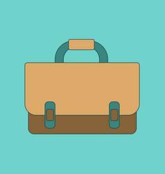 flat icon thin lines school bag vector image vector image