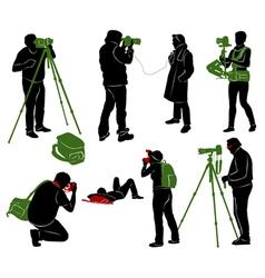 Photographer 2 vector image