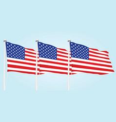 usa flags vector image
