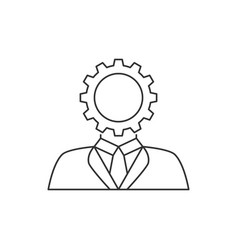 user setting line icon vector image