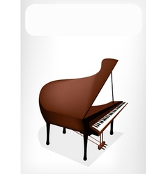 A Retro Grand Piano with A White Banner vector image vector image