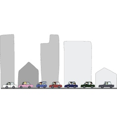 Activities during traffic jam vector image vector image