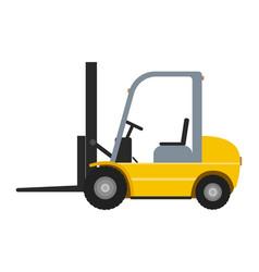 cartoon yellow autoloader vector image