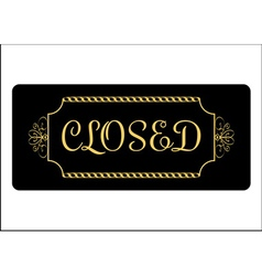 Closed Sign Effect of gold vector image