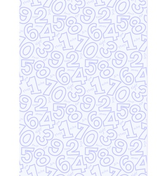 Color number pattern seamless vector image