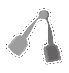 tong kitchen and cooking utensils cut line vector image