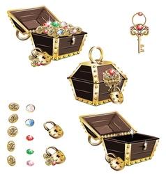Treasure chest vector image vector image