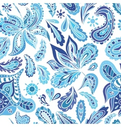 Blue Fresh Indian Pattern vector image
