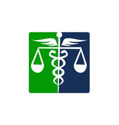 caduceus health balance vector image vector image