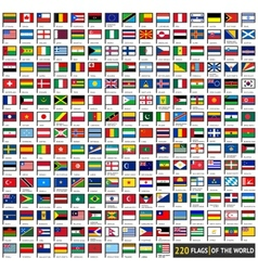 Flags flat sets vector image