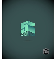 number 5 logo icon symbol from an alphabet letter vector image vector image