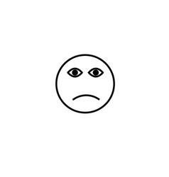 sad face emotion icon vector image