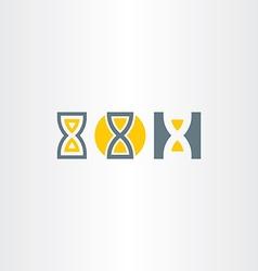 Sand clock icons set vector