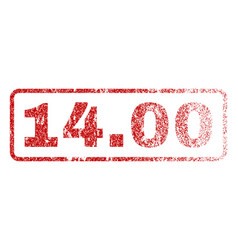 1400 rubber stamp vector image