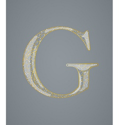 Abstract golden letter G vector