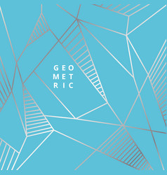 Abstract silver line geometric on blue background vector