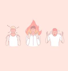 Anger outburst wrath negative emotions concept vector