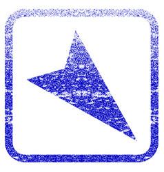 Arrowhead right-down framed textured icon vector