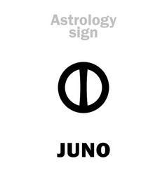 astrology little planet juno vector image