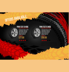 automotive tire poster vector image