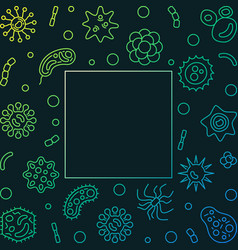 Bacterium microbiology creative frame vector