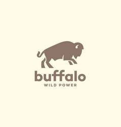 Bison logo vector