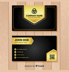 Black business card layout vector