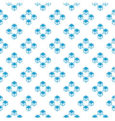 blockchain blue creative seamless pattern vector image