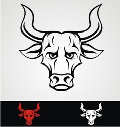 Bulls Head Tribal Mascot vector