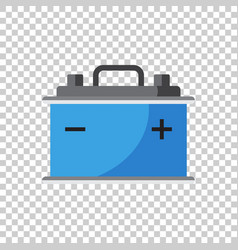 Car battery flat icon on isolated background auto vector