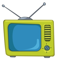 cartoon appliences old tv vector image