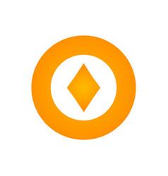 casino chip icon poker chip icon vector image