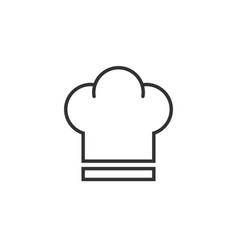 Chef hat icon in flat style cooker cap on white vector