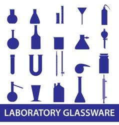 chemistry laboratory glassware set eps10 vector image