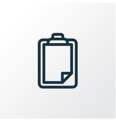 clipboard icon line symbol premium quality vector image