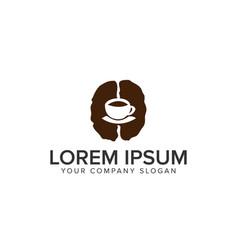 coffee bean logo design concept template vector image