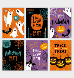 collection of halloween banner templates vector image