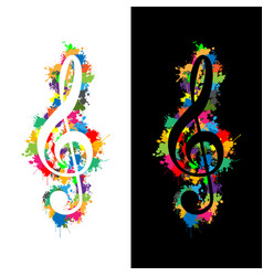 Colorful violin key vector