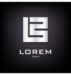 Conceptual sign of letter B logo design template vector