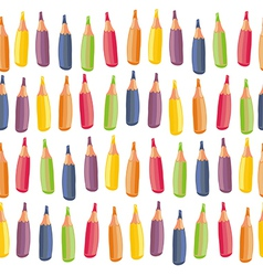 Crayons background vector image
