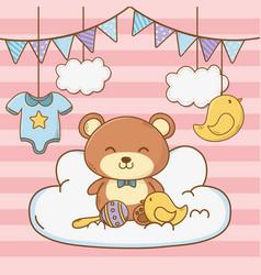 Cute bashower cartoon vector