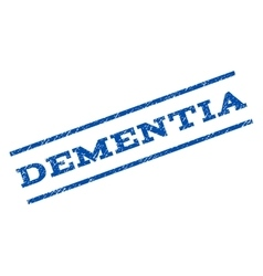 Dementia Watermark Stamp vector