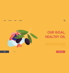 ecological healthy vegetable oil farm production vector image