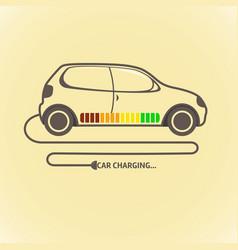 electric auto icon flat design vector image