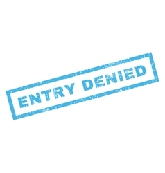 Entry Denied Rubber Stamp vector image