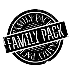 Family Pack rubber stamp vector image