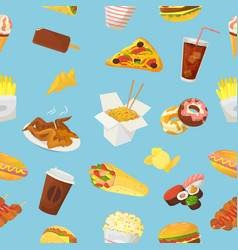 Fast food hamburger or cheeseburger with vector