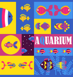 fish abstract colorful collage vector image